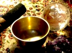 spiritual practice with a singing bowl and crystals by Margherita 239